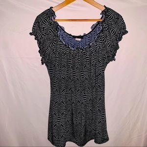 AMERICAN CITY WEAR Polka Dot Stretchy Blouse - 3X